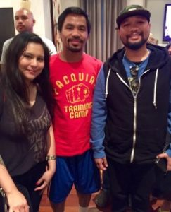 Manny Pacquiao and Bryan Melchor